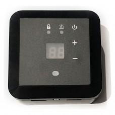 Терморегулятор Эрголайт ТР-09 черный (Накладной, кнопочный 3,5 кВт)
