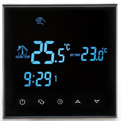 Терморегулятор RTC черный (программируемый, сенсорный)