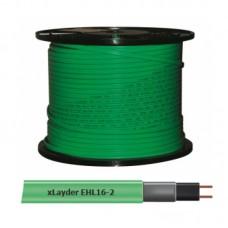 Греющий кабель саморегулирующийся для обогрева труб (без защитного экрана) Caleo xLayder EHL16-2 (16 Вт/ пог. м)